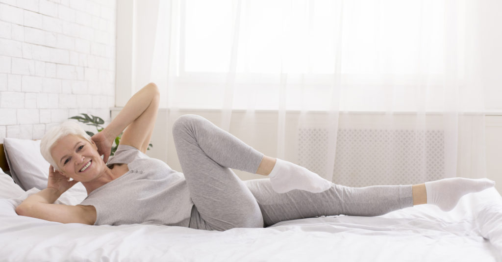 doing a bit of yoga before bedtime can benefit the quality of your sleep