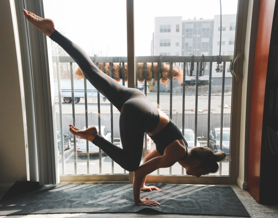 doing yoga better at home takes only intention